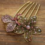 Rose Pink Gold Rhinestone ..