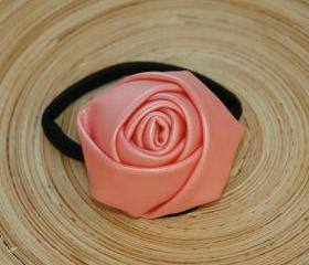 Pastel Pink Leather Rose Hairband